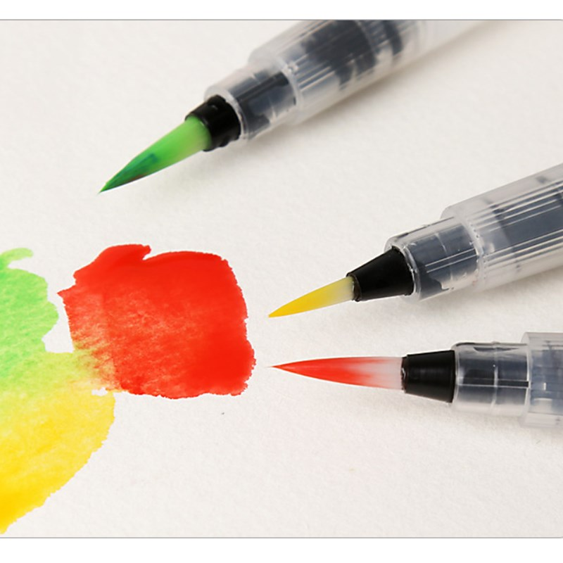 6Pcs refillable ink pen soft watercolor brushes for drawing painting art pen!ZJP