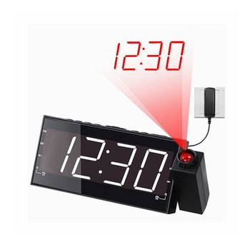 Electronic Component digital talking alarm clock with projection projector led factory prices