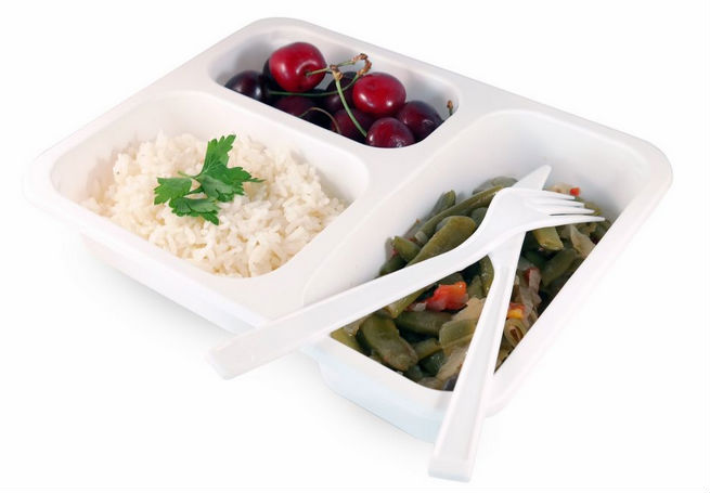3 department ready meal Polypropylene food catering container box