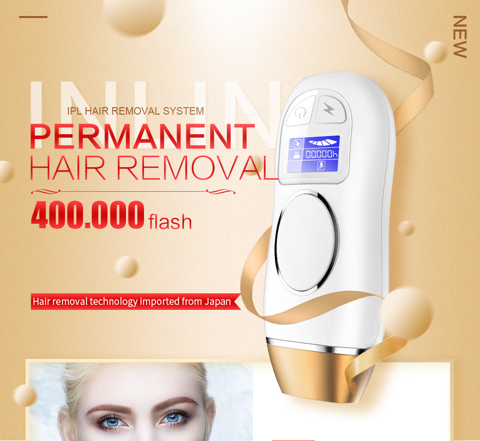 Multi-function Tool IPL Permanent Hair Removal Women Depilation Skin Rejuvenation Acne treatment 400000 Pulsation laser