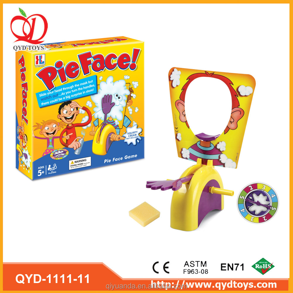 Factory direct famous hot sale party game toy plastic familly game pie face challenge game