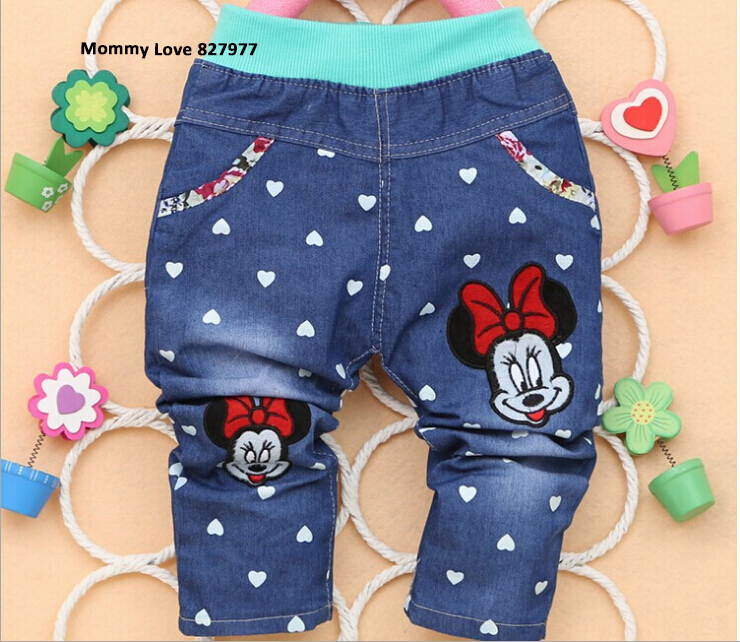 Весна и осень знаки в форме сердца печать девочки-младенцы брюки мальчик брюки 1 - 2 года старый младенцы брюки