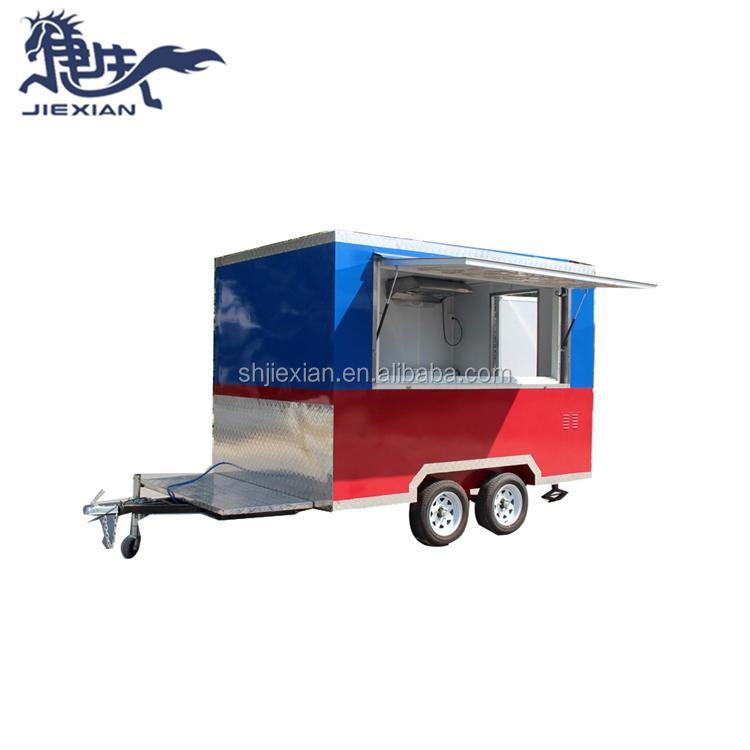 JX-FS300 rechteckigen Kommerziellen heißer hund eis ei waffel kaffee lebensmittel wagen für verkauf