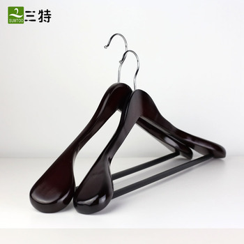 suit clothes wooden hangers