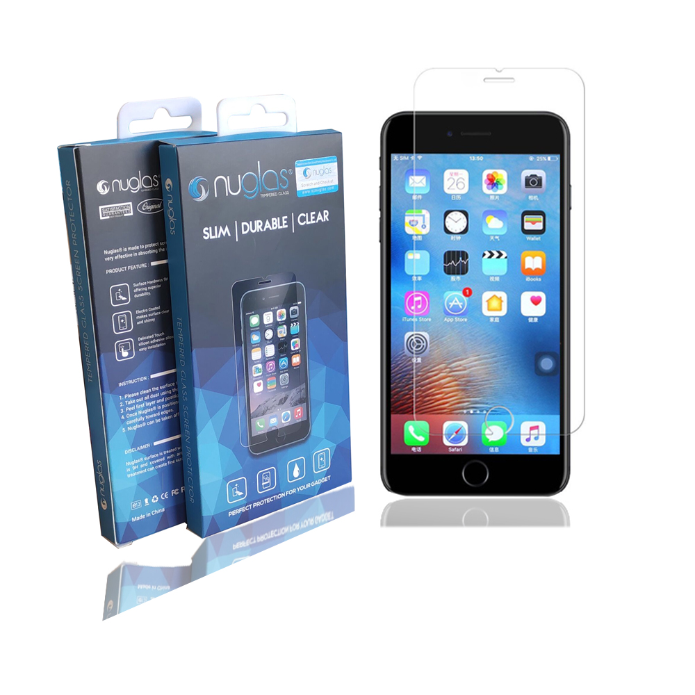 Factory Nuglas Premium Tempered Glass Screen Protector For iPhone 6/6S/7 фото