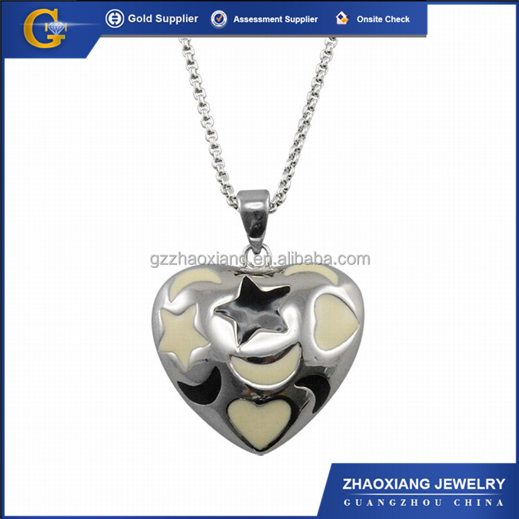 Fashion 316 stainless steel heart pendants charms bulk ERP0028