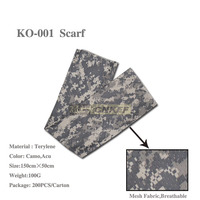 Tactical Military Camo Mesh Neck Scarf, Scrim Net Sniper Face Veil Airsoft Army SAS For Wargame, Sports