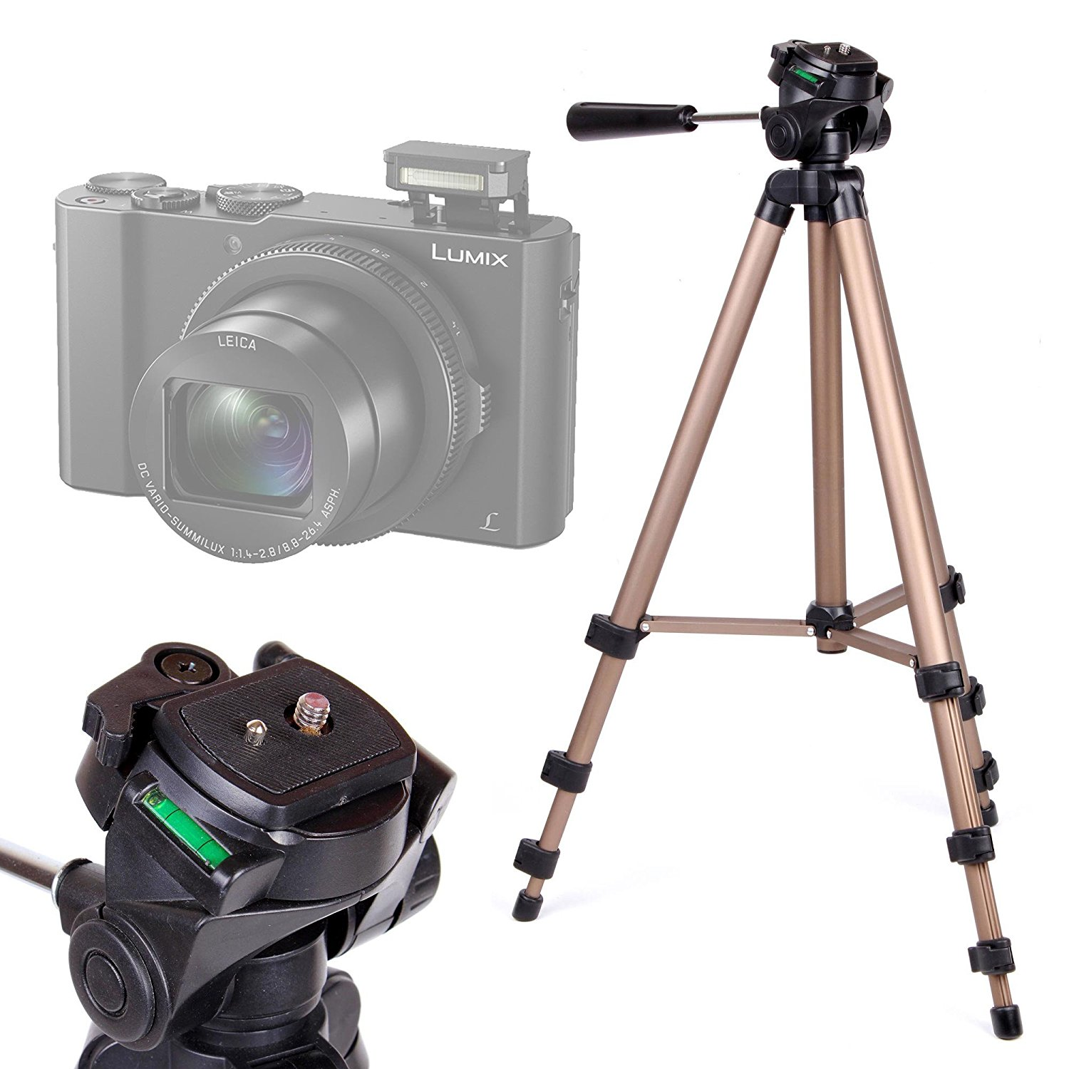 Buy Camera Tripod With Extendable Legs And Ball Tilt Head In Black Panasonic Lumix Dmc Lx10 Digital Gold For The