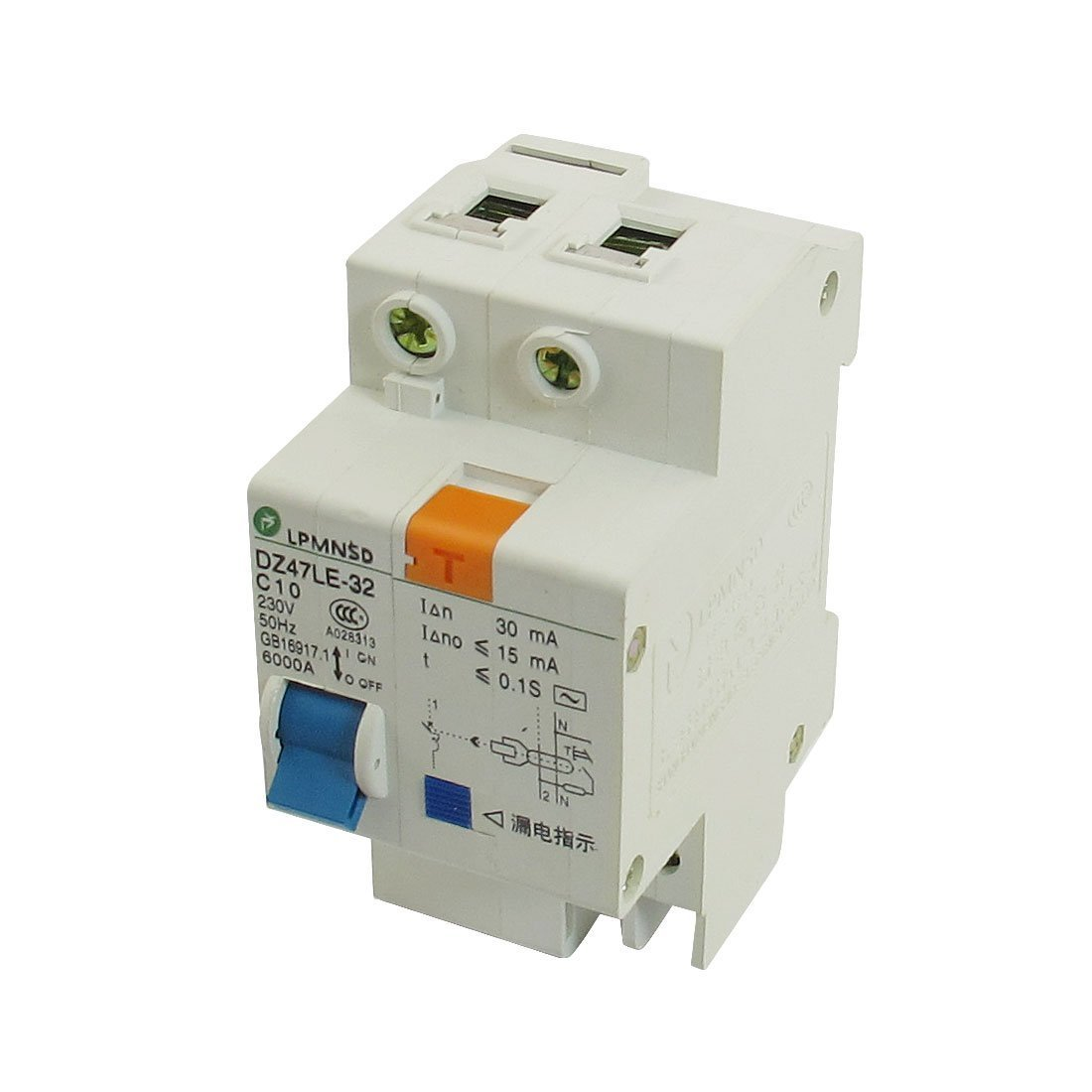 uxcell DIN Dail 1P Overload Proetction Circuit Breaker 230VAC 10A 6000A