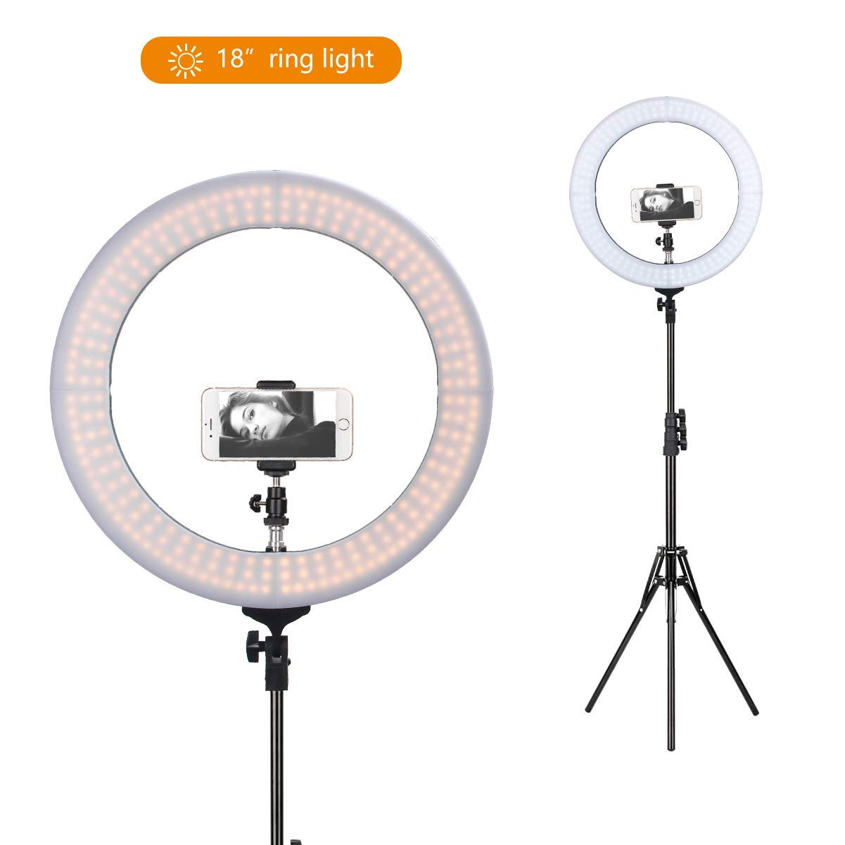 "ZOMEi 18"" Dimmable LED Ring Light"