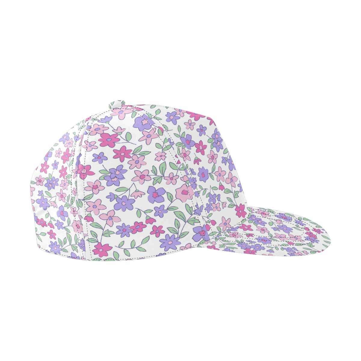 Get Quotations · InterestPrint Vintage Small Flowers Unisex Hat Men Womens  Punk Rock Snapback Hat Hip Hop Hats Flat ad70630ff0d1
