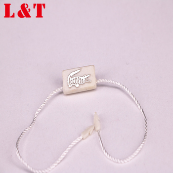 High Qualilty Plastic Seal Tag With Logo String Seal For Clothes