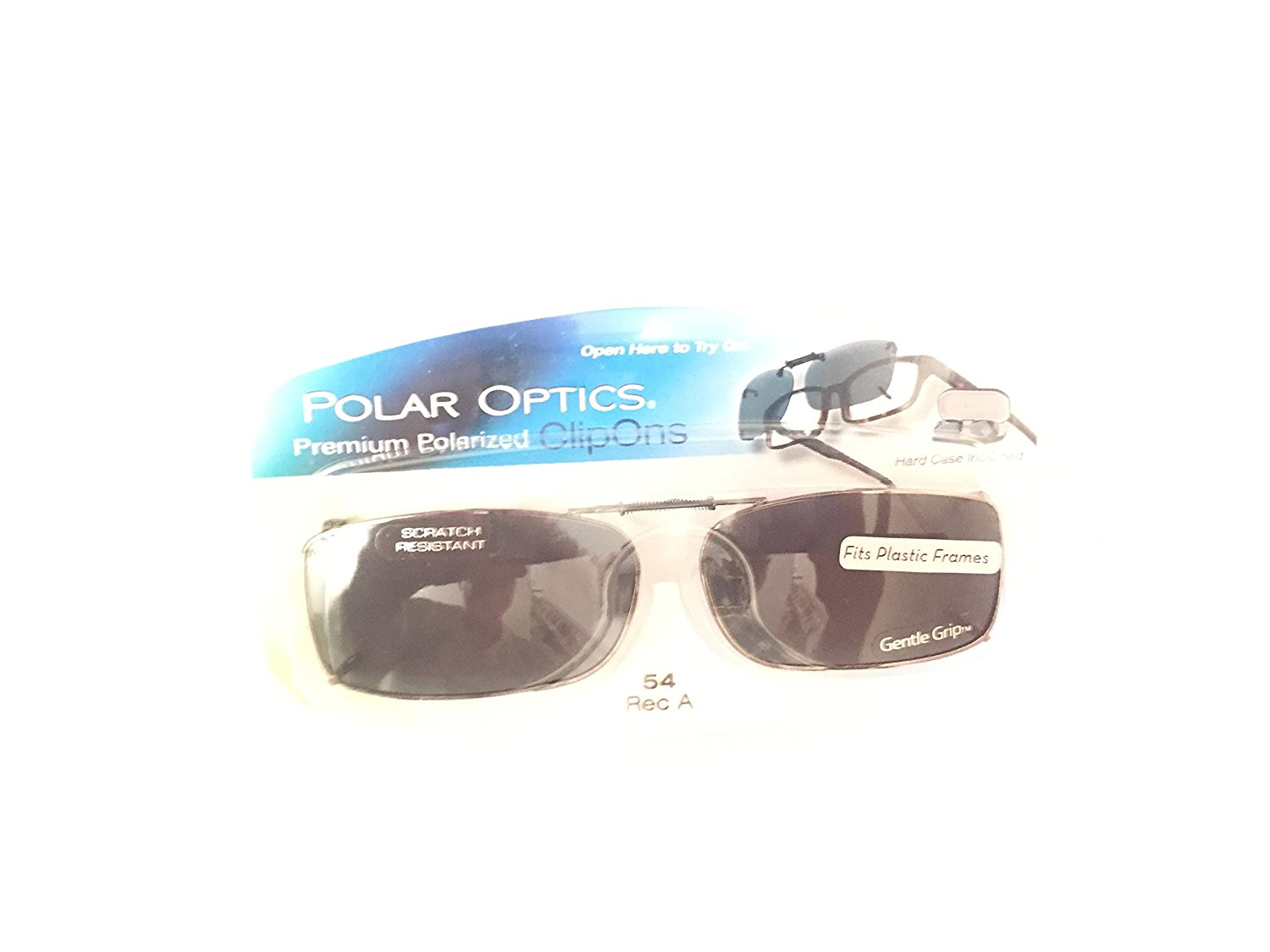 d91f0462 Get Quotations · Polar Optics clip ons premium Polarized hard case incl 54  REC A Sunglasses