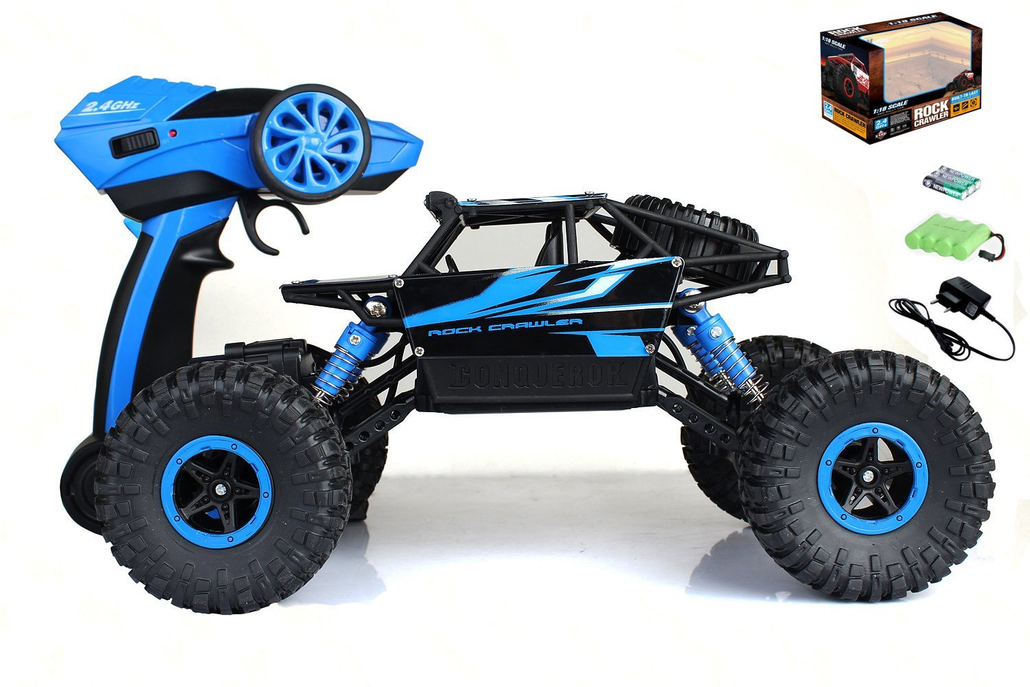 iFixer RC Cars Off-Road Rock Vehicle Crawler 2.4Ghz 4WD High Speed 1:14 Radio Remote Control Racing Cars Electric Fast Race Buggy Hobby Car Black