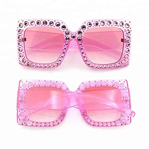 Diamond or Rhinestone Decoration Plain Fashion Luxury Sunglasses women sun glasses