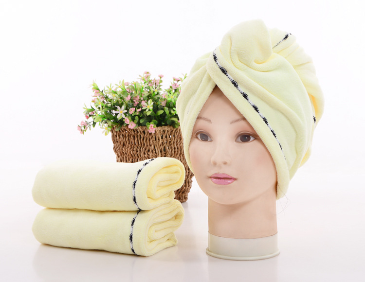 wholesale soft Custom towels with cotton microfibre bamboo organic head towel