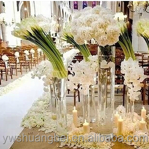 Transparent Cylinder Shape Wedding Glass Vases Wholesale Home Decor Buy Cheap Tall Glass Vases