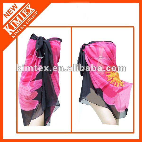 Fashion printed polyester sarong bandana beach