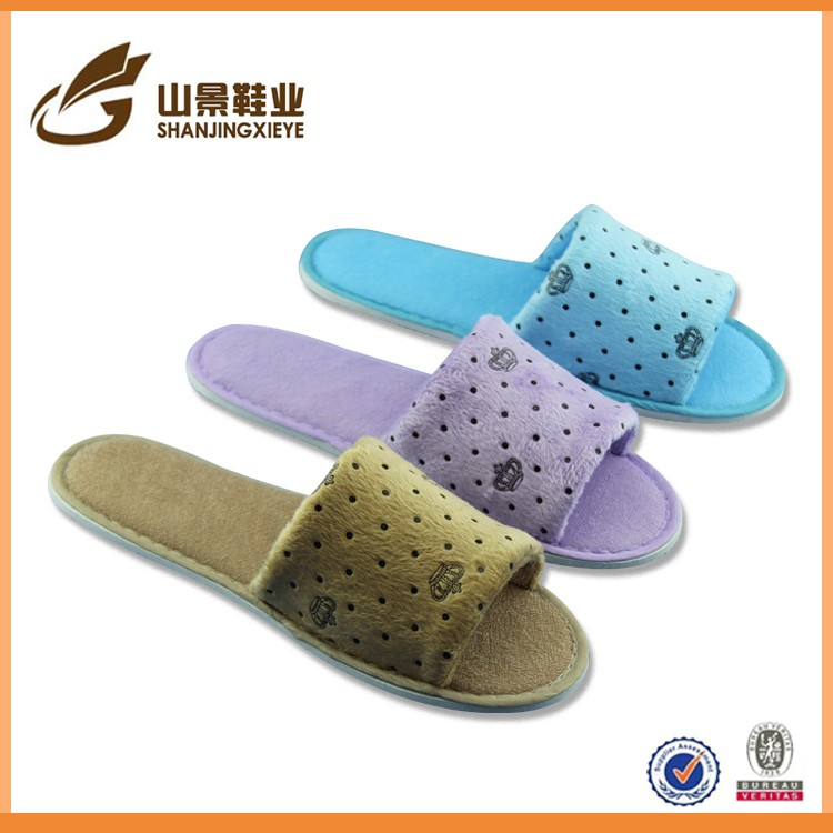 fashion slipper with eva sole open toe cheap houseguest shoe