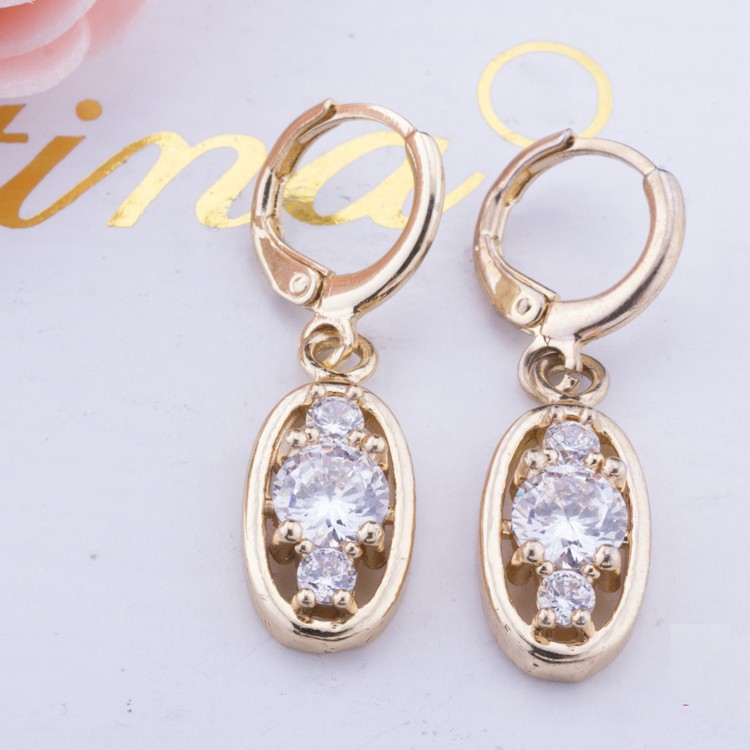 10-30mm Copper Alloy Plated Golden Medicated Earring Designs For ...