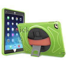 For iPad 2/3/4 Shockproof Case, 360 Degree Rotating Rugged Shock Drop Proof Hybird Case Cover with Built-in Kickstand