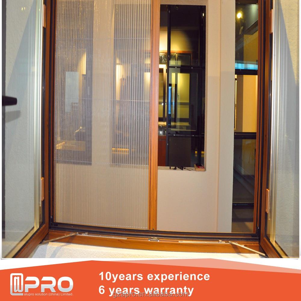 Telescoping Sliding Mirror Closet Doors Triple Track Aluminum Powder
