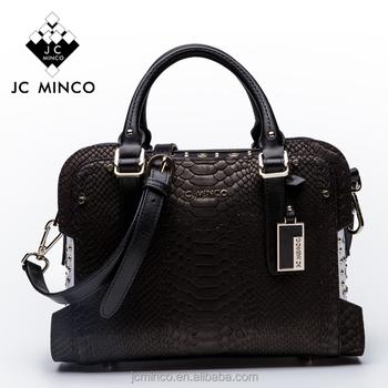 4da110c414 Super quality handmade 100% real genuine leather ladies bags snake carving cowhide  women handbag