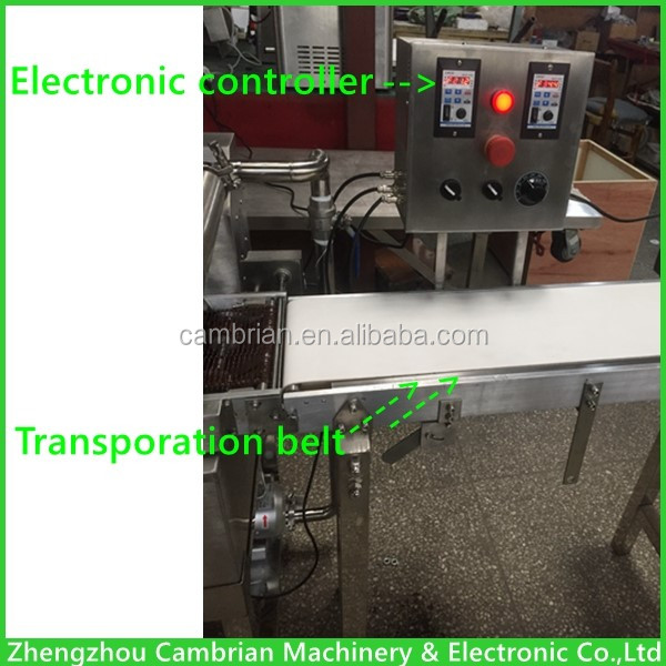 110V 60hz small chocolate enrobering machine wafer biscuit chocolate spreading machine with US plug