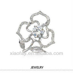 Fashion Jewelry Love Rose Brooch with CZ crystal wedding invitations