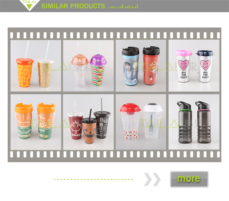 China wholesale popular promotional customized plastic cup with lid