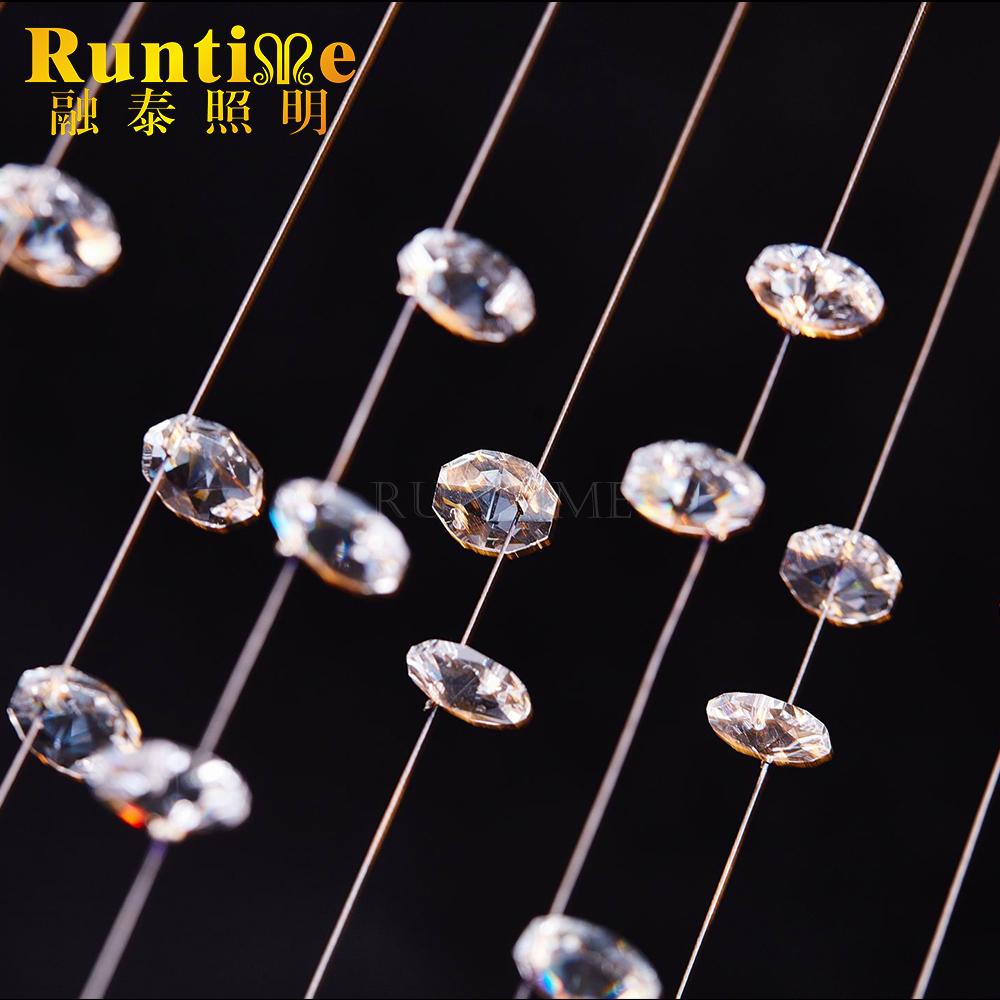 Décoration design moderne top qualité suspension lustre en cristal avec 6 lumières