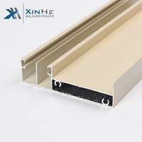 High Quality 6063 T5 Thermal Break Extrude Aluminium Alloy Frame Roller Shutter Groove Sliding Glass Window Screen Case Profile