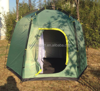 Factory direct hexagonal double-layer waterproof tents automatic folding tent-speed drive tourism, camping tents