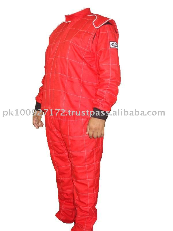 Nomex Double Layer Suit Red Without Belt NASCAR Cuff