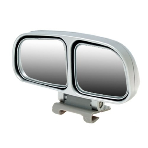 Left Side Rear View Blind Spot Mirror Universal adjustable Wide Angle Auxiliary Mirror(Silver)