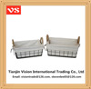Home decorative rectangular stainless steel metal serving storage trays