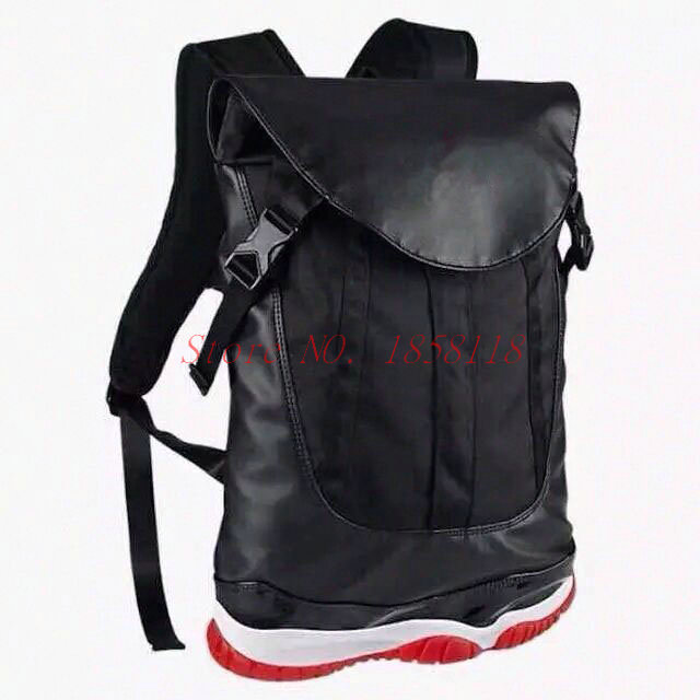 22c08545be4 Get Quotations · New Fashion men's outdoor shoulder bag Jordan 11 Backpacks  bag women's and men's black free shipping
