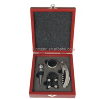 4 pieces Wine Opener Gift Set With wood Box