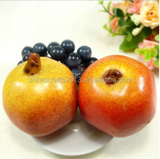 Decorative plastic artificial fruit grapes imitation pomegranate