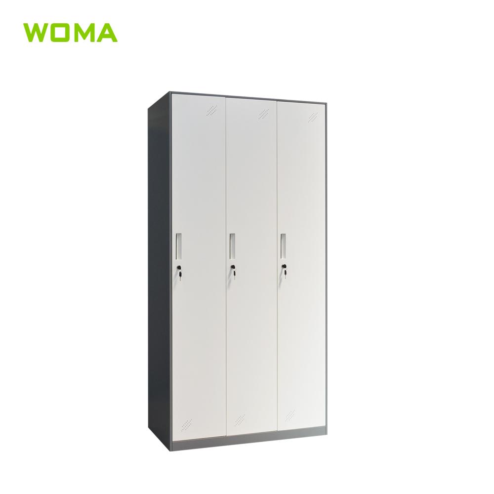 Cheap 3 Door India Different Colour Steel Almirah Designs /godrej almirah  designs with price / 3 door metal locker