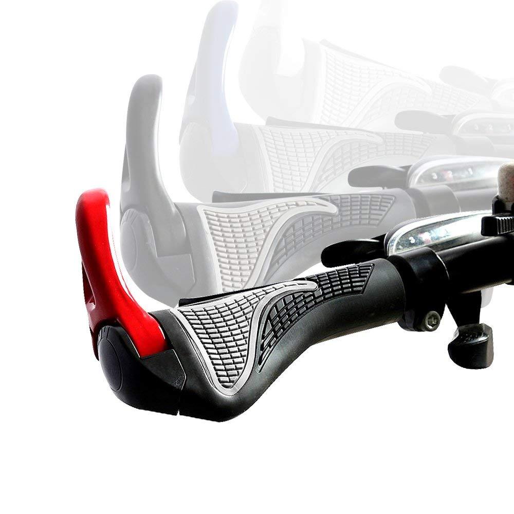 59dd648a11c Get Quotations · BOOMCOOL Bicycle Bike MTB Components Bar ends Handlebars  Rubber Grips Aluminum Barend Handle bar Ergonomic Push
