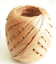 Natural color Curling Paper Raffia Ribbon Egg for gift package