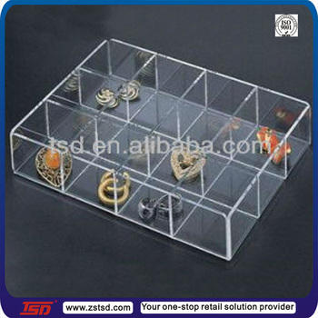 Tsd A158 Customized Clear Plastic Storage Box With Dividers Small