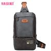 Nice quality young man messenger bag soft leather Pu single strap sling chest pack bag cross body bag men