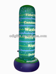 Splash up inflatable cannonball meter water game