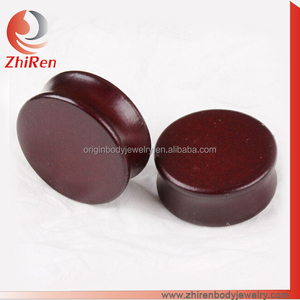 ZhiRen Wood ear plug gauges earring piercing jewelry