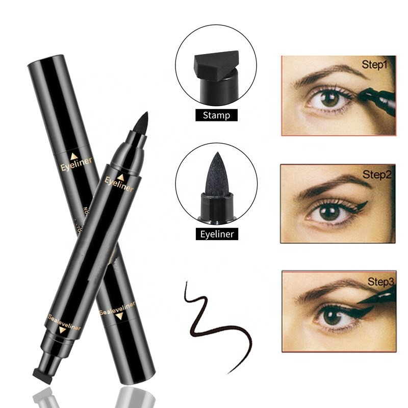 1 Pcs Charming Cat Eye Winged Eyeliner Sexy Eye Cosmetic Seal Stamp Wing Double Head Waterproof Eyeliner Pen Tool To Assure Years Of Trouble-Free Service Back To Search Resultsbeauty & Health Beauty Essentials