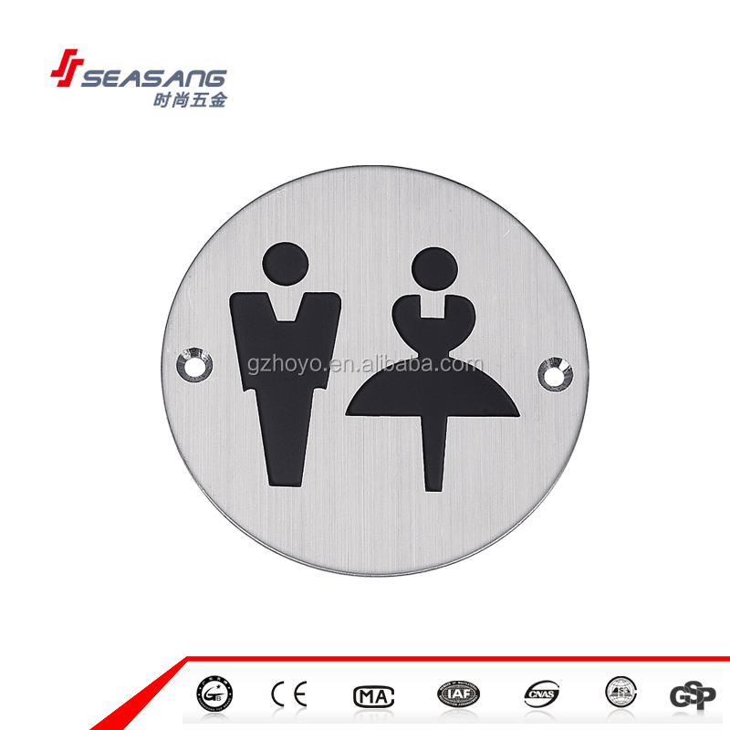 High Quality Male Female SUS304 Braille Toilet Sign Plate