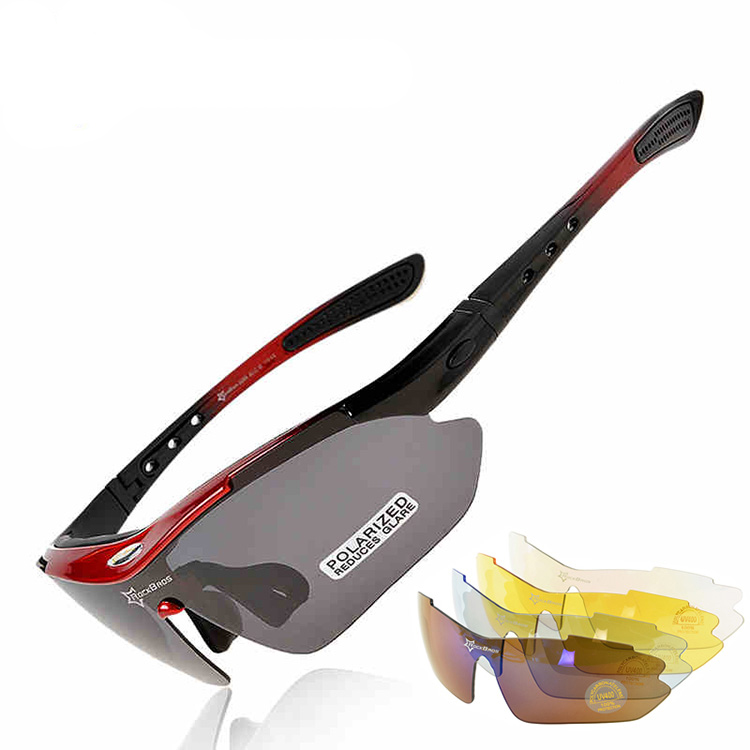 RockBros 5 Lens TR90 Polarized Cycling Eyewear Myopia Frame Outdoor Sports UV400 Sun Glasses Bicycle Goggles MTB Bike Sunglasses фото