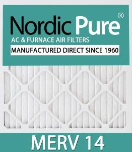 Nordic Pure 12x24x1M14-6 Pleated AC Furnace Air Filter, Box of 6 by Nordic Pure